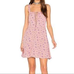 NWOT Flynn Skye Leila lace up dress